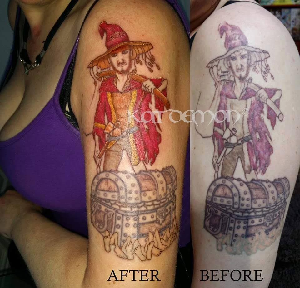 Rincewind Discworld novels by Terry Pratchett tattoo
