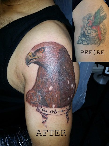 eagle coverup tattoo