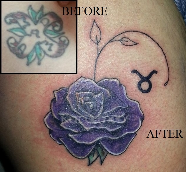 flower rose cover tattoo