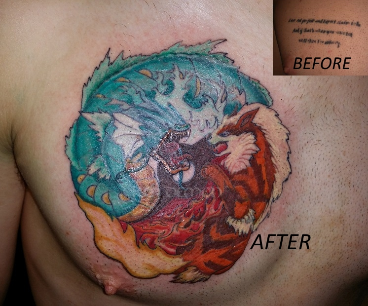 pokemon chest tattoo