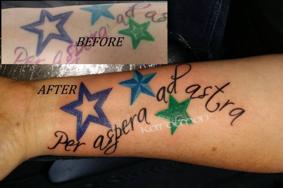 stars and latin tattoo